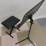 ミュージシャンの方々に激押し!!!!【演奏用椅子と譜面台(穴あき)】